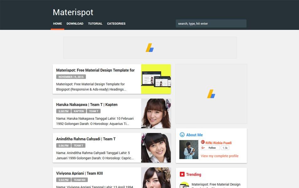 Materispot Template Blogger yang Responsif