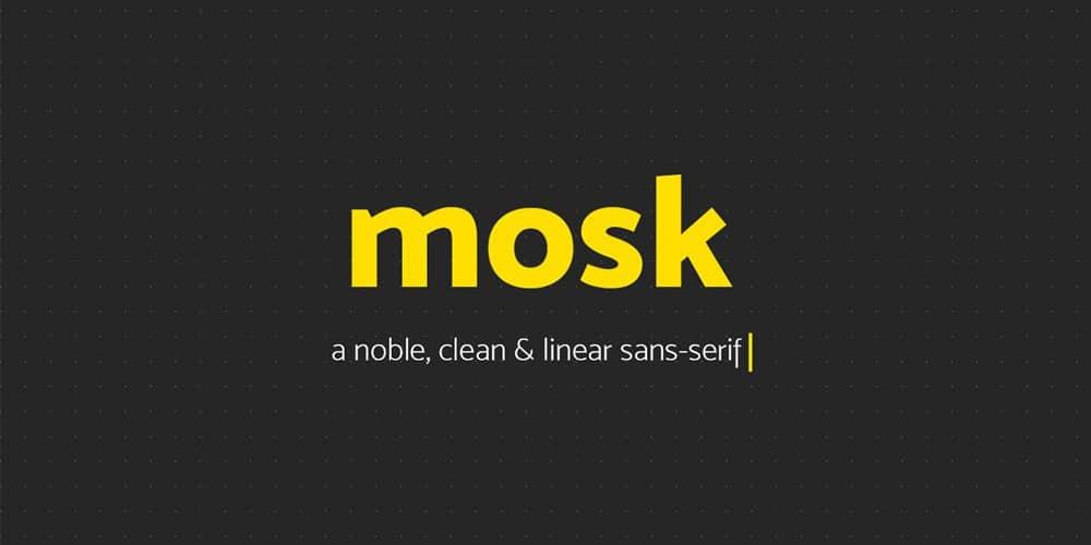 Mosk Typeface