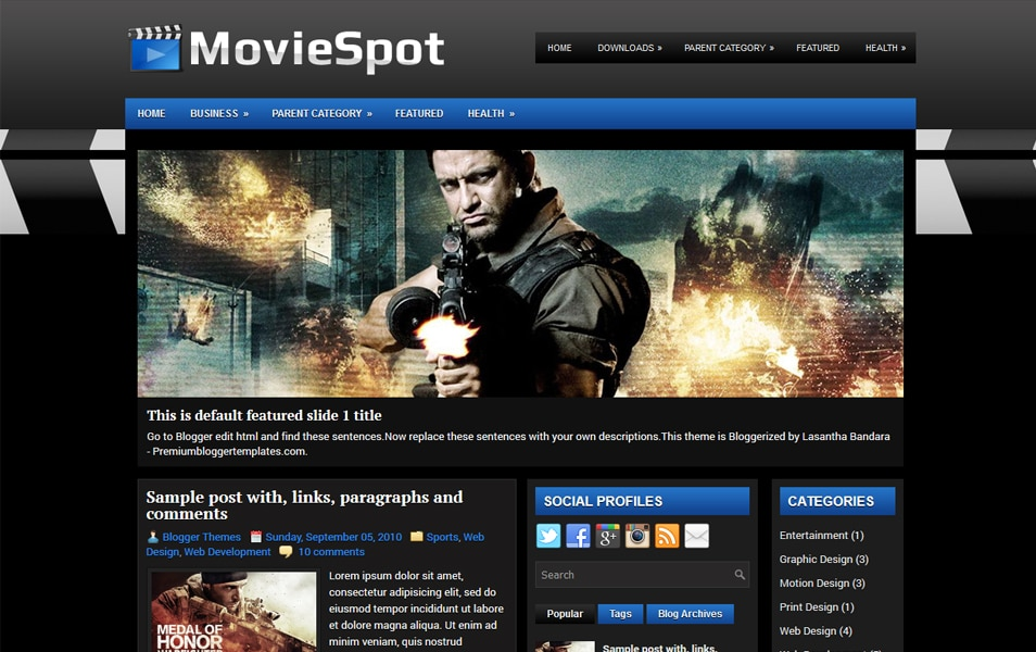MovieSpot Responsive Blogger Template