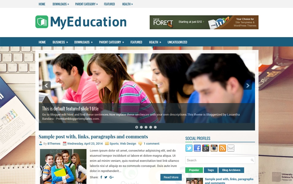 Template Blogger Responsif MyEducation