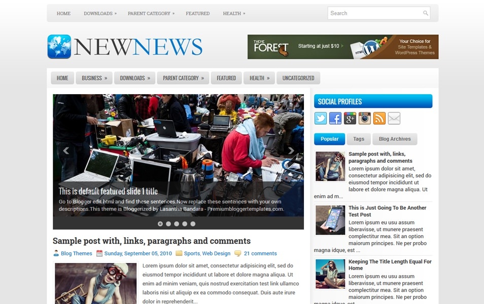 NewNews Responsive Blogger Template