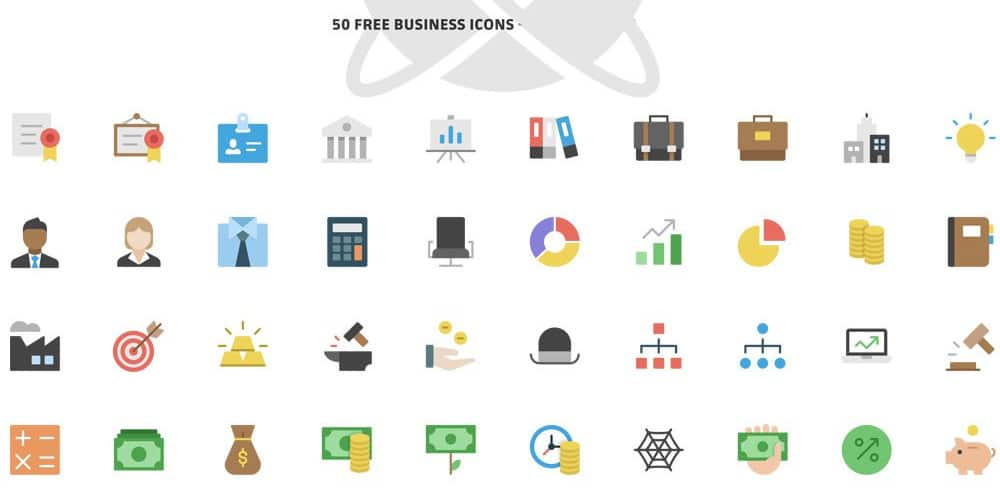 Nucleo Flat Business Icons