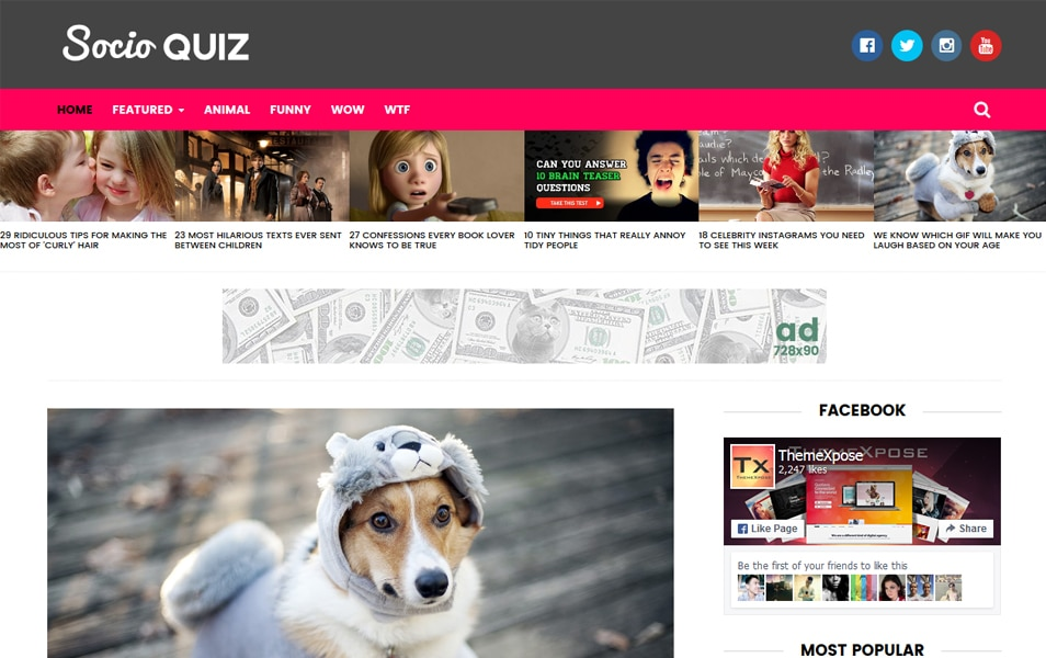 Socio - Viral & Buzz Responsive Blogger Template
