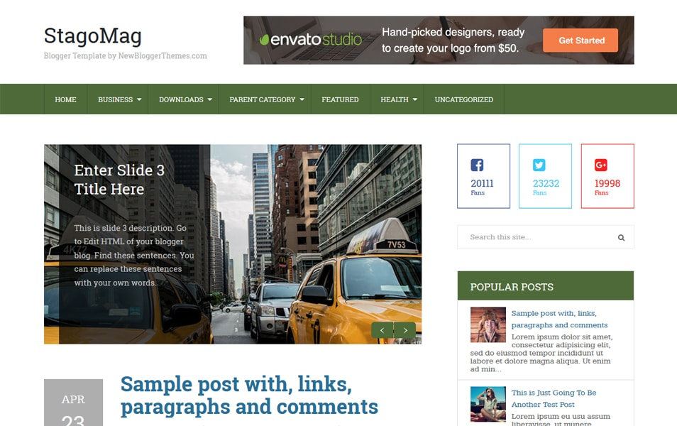 StagoMag Responsive Blogger Template