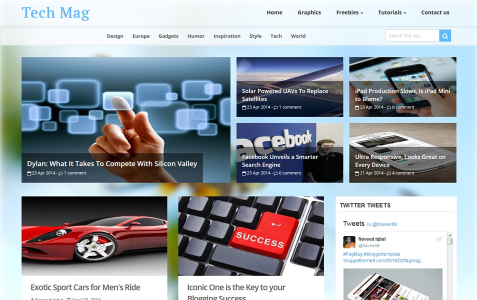 Tech Mag Responsive Blogger Template