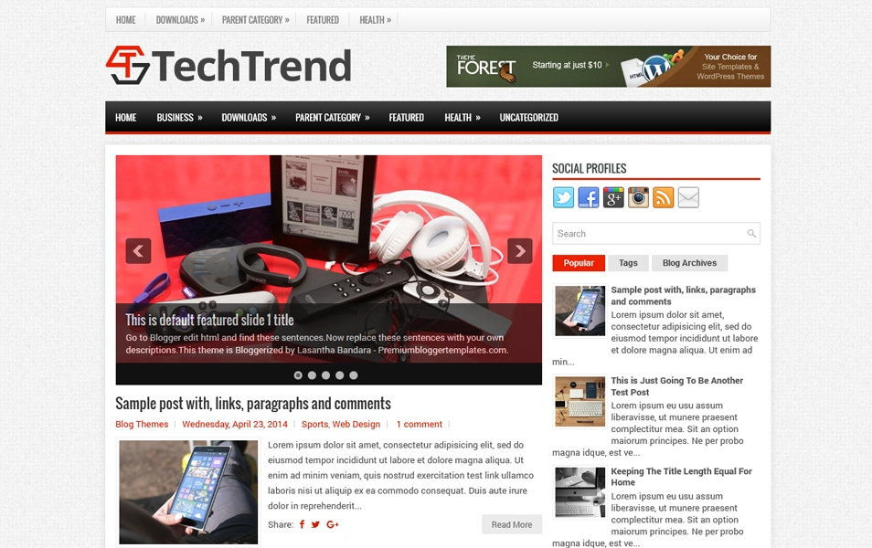 Template Blogger TechTrend Responsif