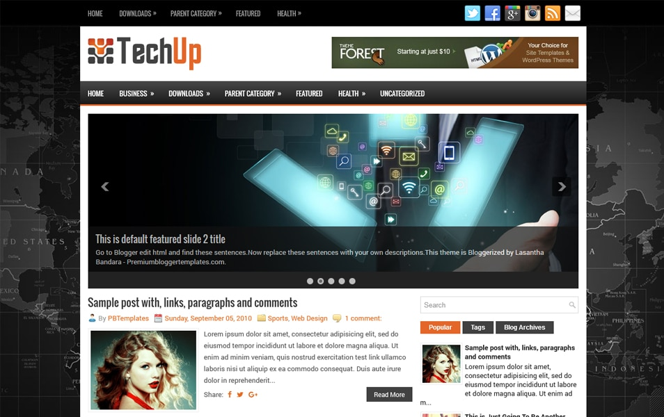Template Blogger Responsif TechUp