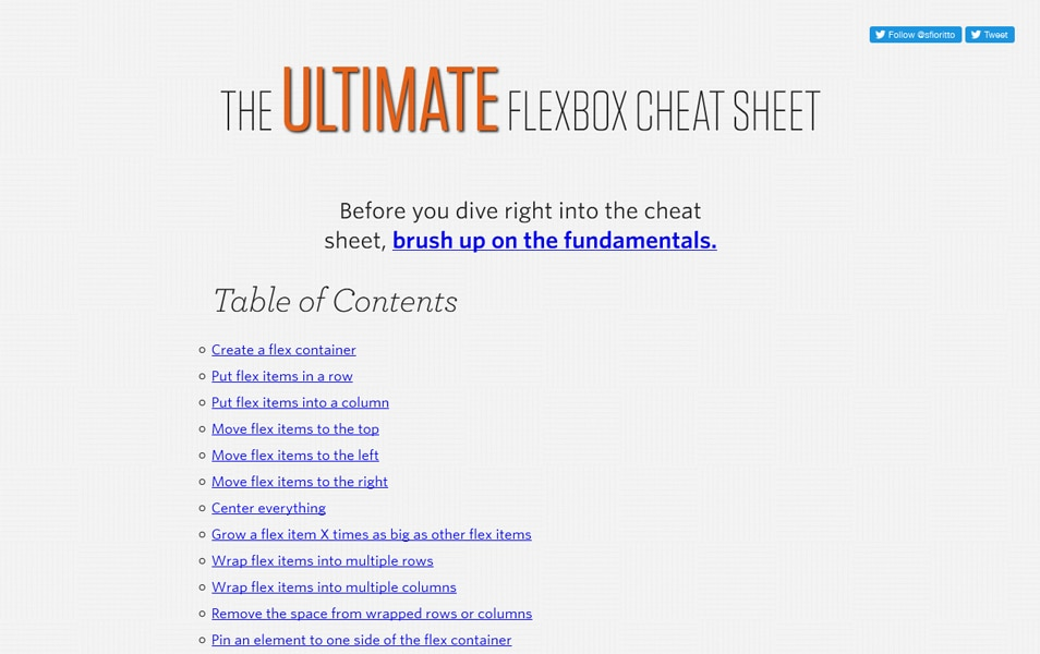 The Ultimate Flexbox Cheat Sheet
