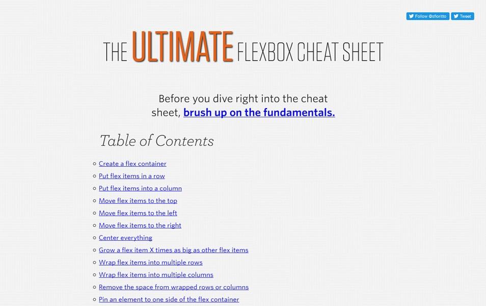 The Ultimate Flexbox Cheat Sheet