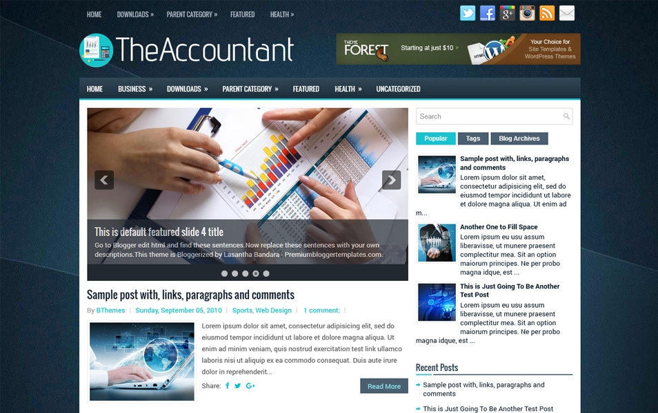 TheAccountant Responsive Blogger Template
