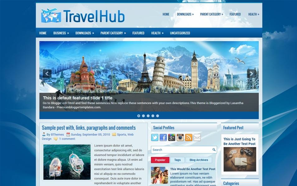 TravelHub Responsive Blogger Template