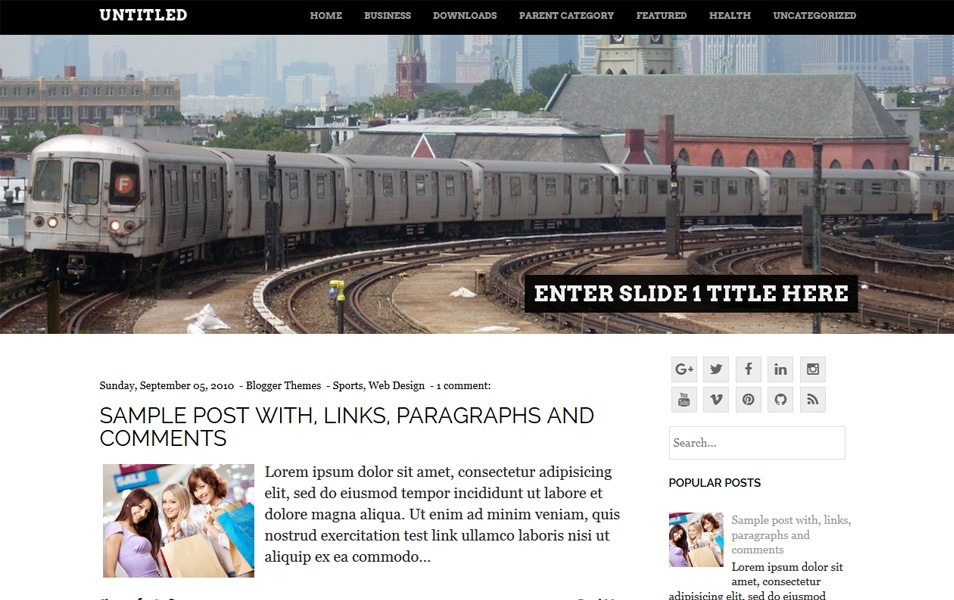 Untitled Responsive Blogger Template