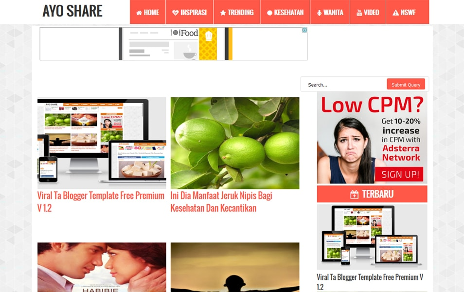 Viral Ta Responsive Blogger Template