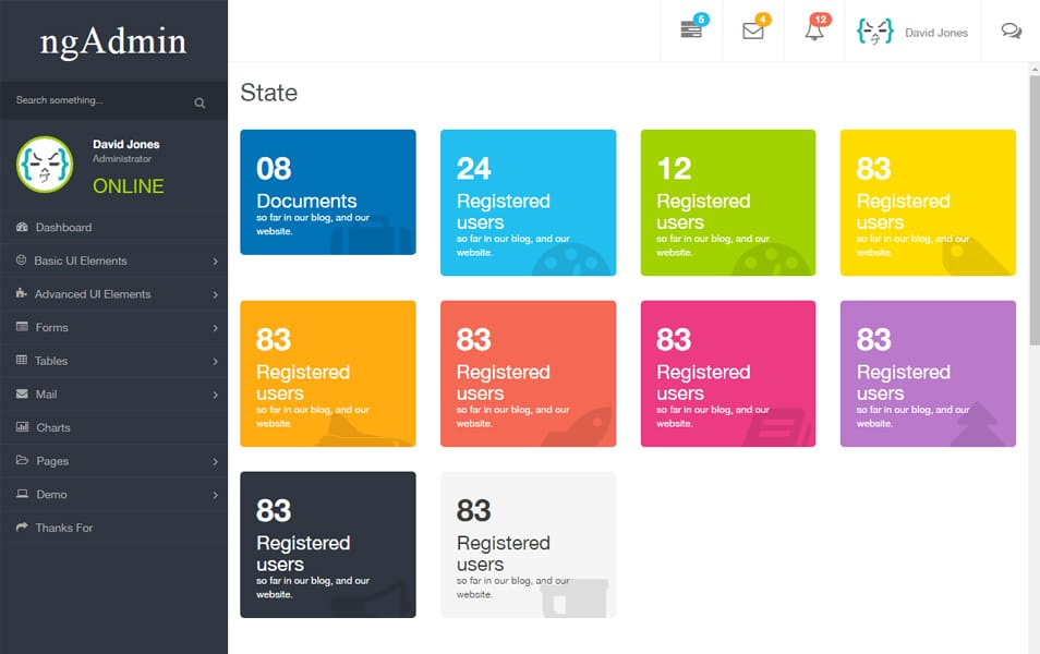 30 Responsive Free Angularjs Admin Themes 187 Css Author