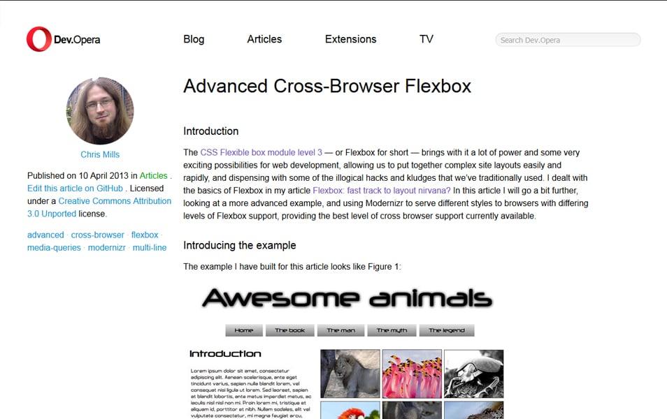 Advanced Cross-Browser Flexbox