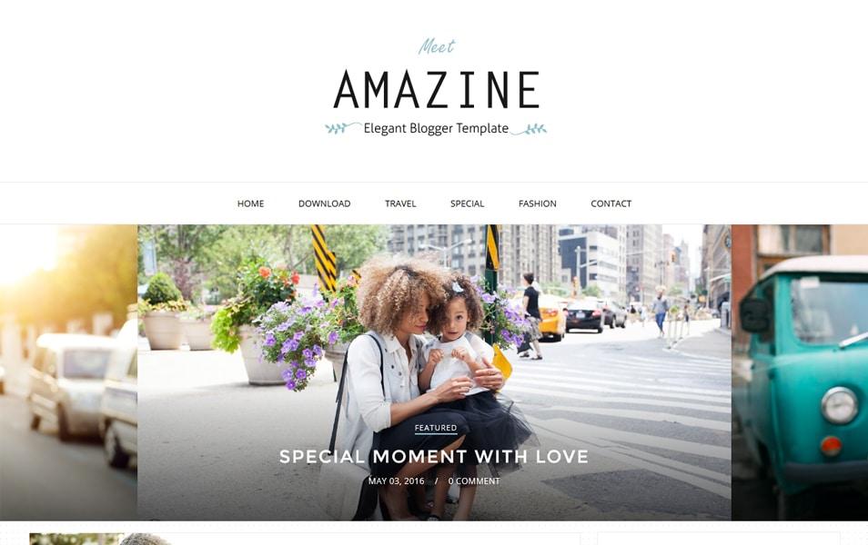 Template Blogger Responsif Amazine