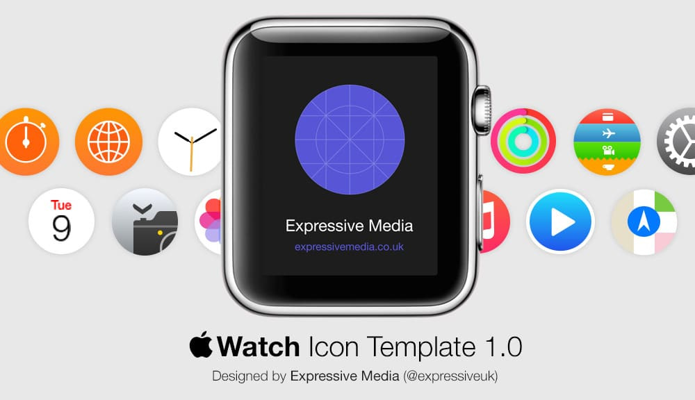 Apple Watch Icon Template PSD