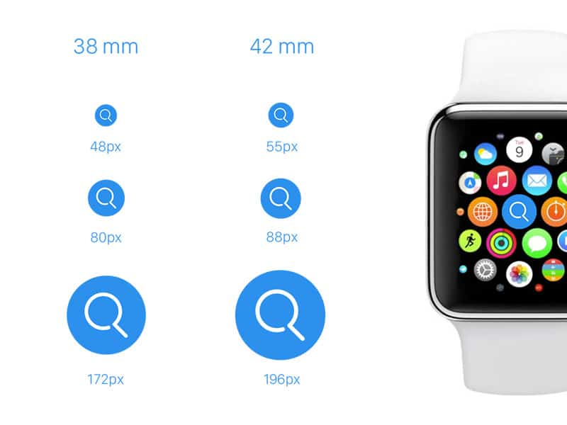 Apple Watch Icons Template PSD