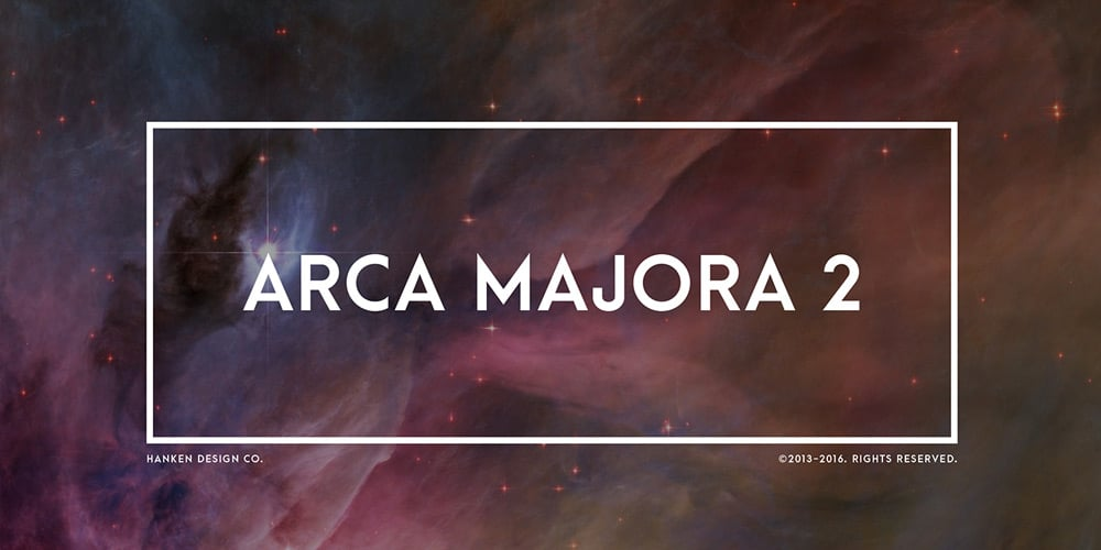 Arca Majora Typeface