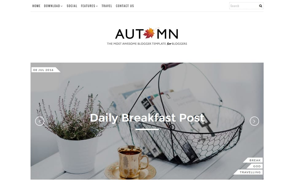 Autumn Responsive Blogger Template
