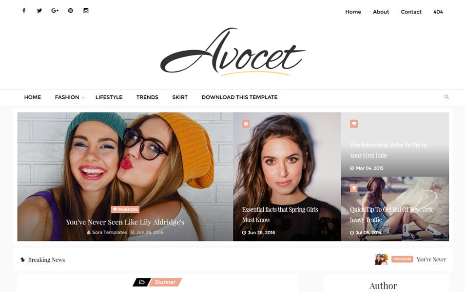 Template Blogger Responsif Avocet