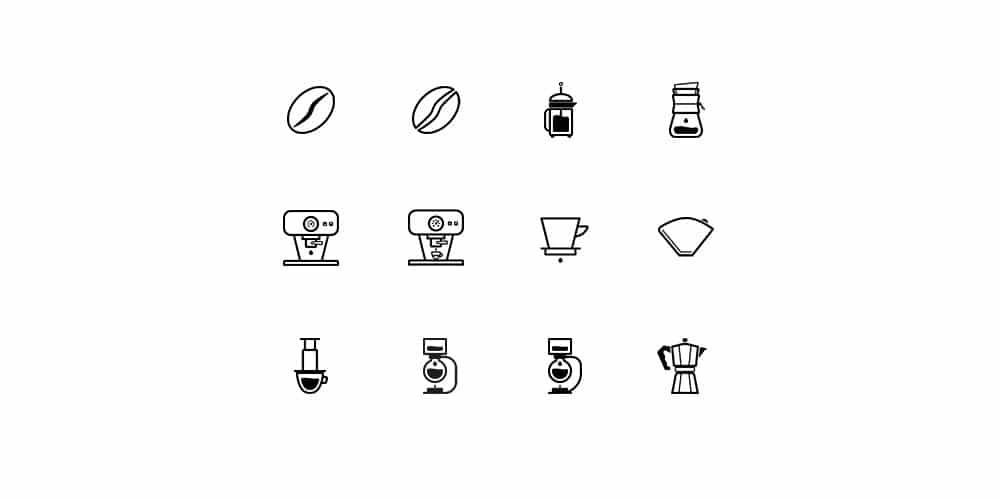 Barista And Coffee Lovers Icons