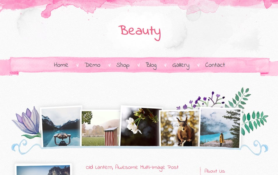 Beauty Responsive Blogger Template