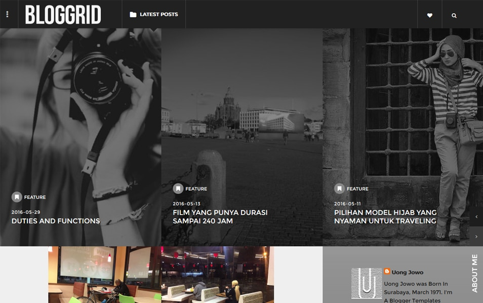 Bloggrid Responsive Blogger Template