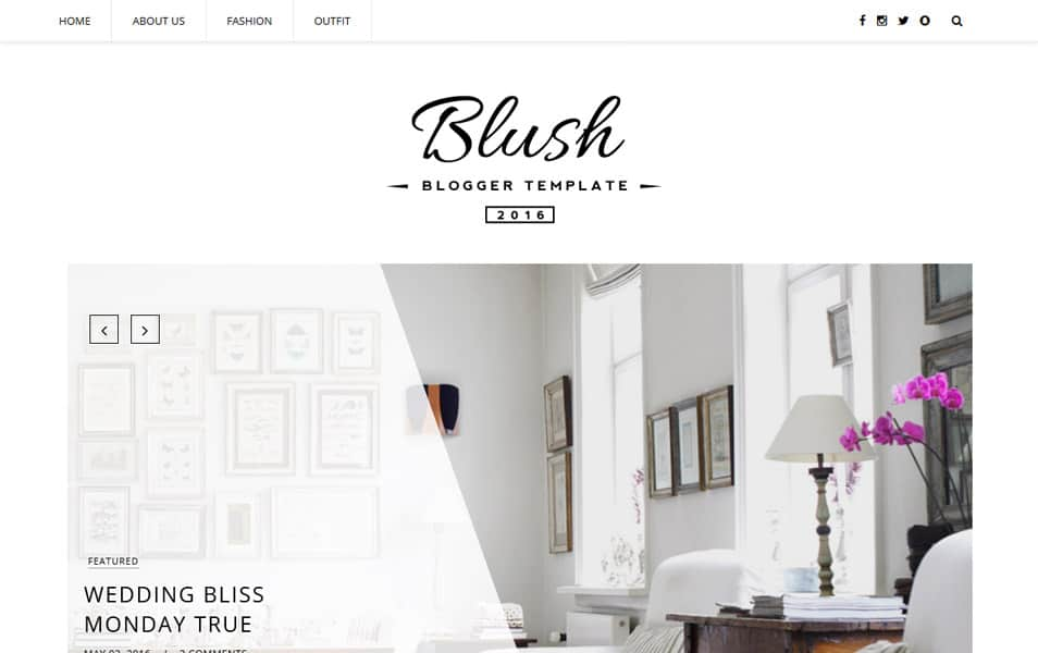 Blush Responsif Template Blogger MultiPurpose