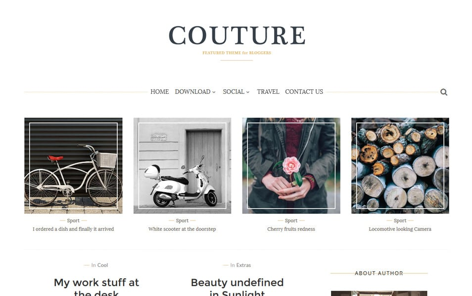 Couture Responsive Blogger Template