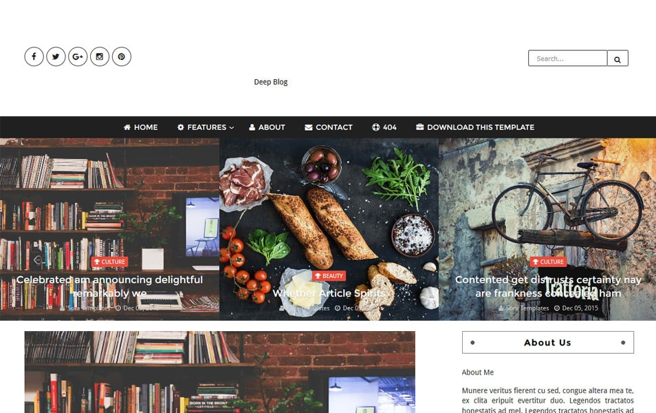 Template Blogger Deep Blog Responsif