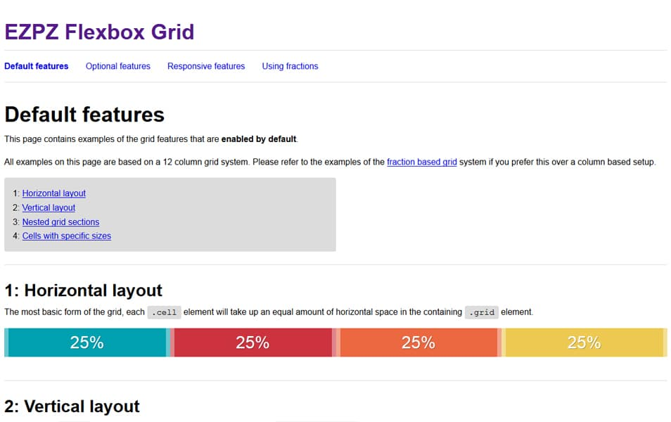 EZPZ Flexbox Grid