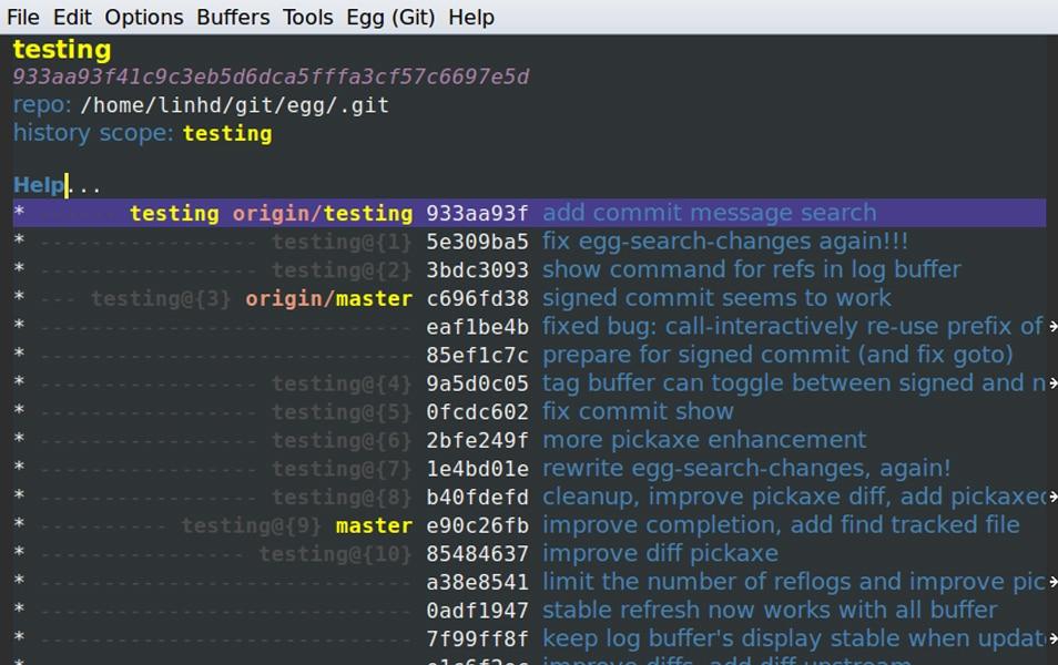 Egg (Emacs Got Git)