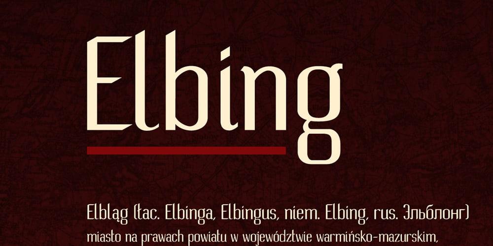 Elbing Font