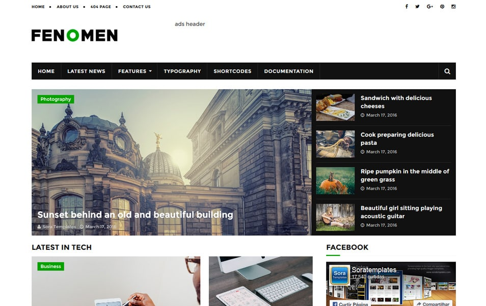 300 best free responsive blogger templates 2018 css author fenomen responsive blogger template pronofoot35fo Choice Image
