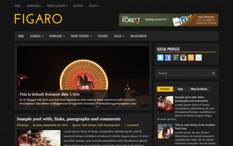 Figaro Responsive Blogger Template