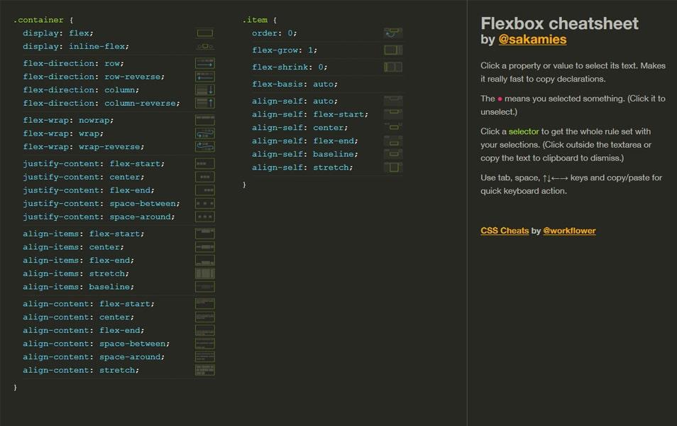 Flexbox Cheatsheet