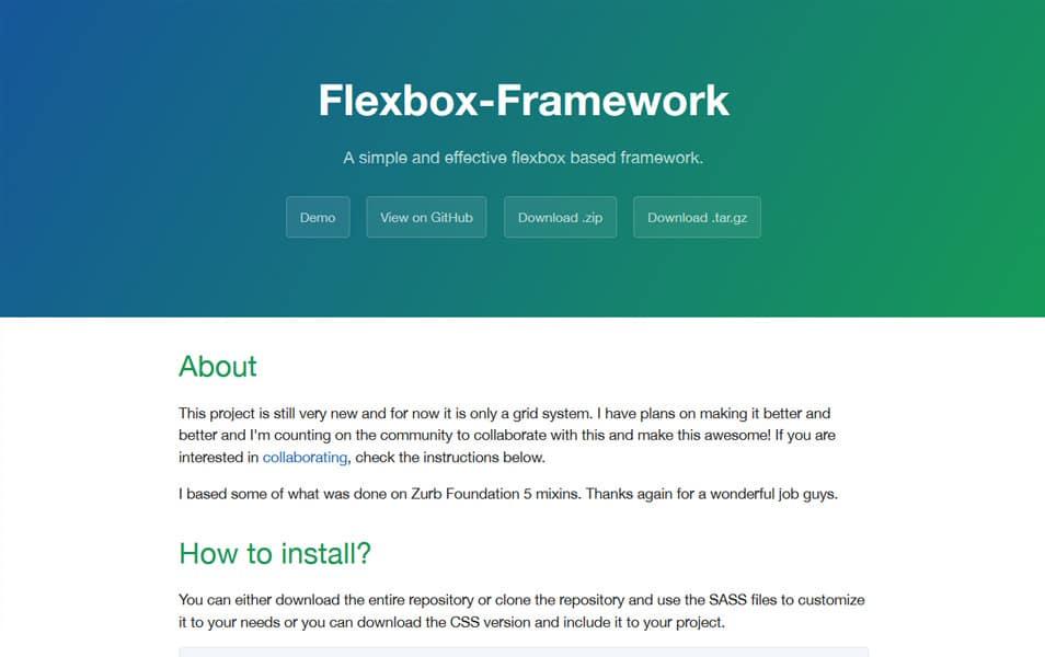 Flexbox Framework