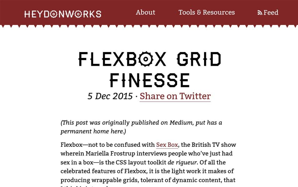 Flexbox Grid Finesse