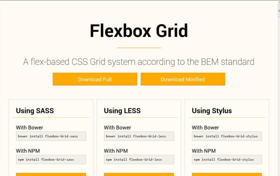 Flexbox Grid Less