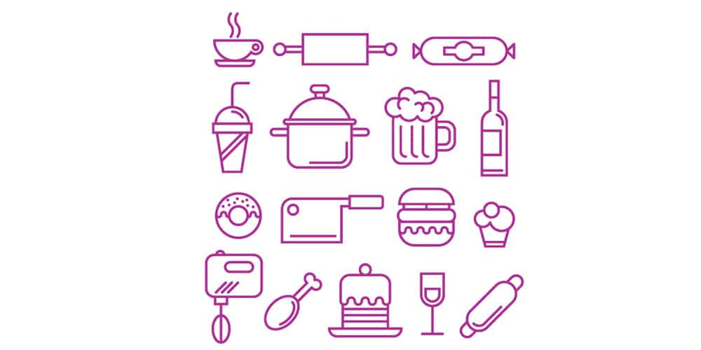 Food and kitchen Supplies Icons
