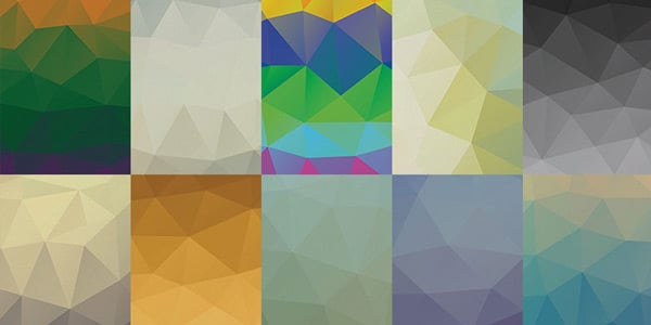 Free Awesome Low Poly Backgrounds PSD