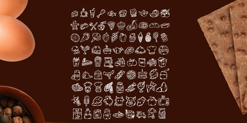 Free Hand Drawn Food Icons