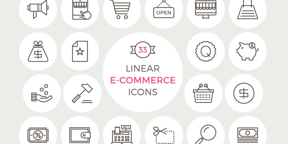 Free Linear E Commerce Icons