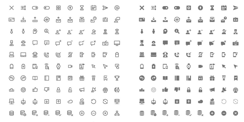 Free Material Design Style Icons