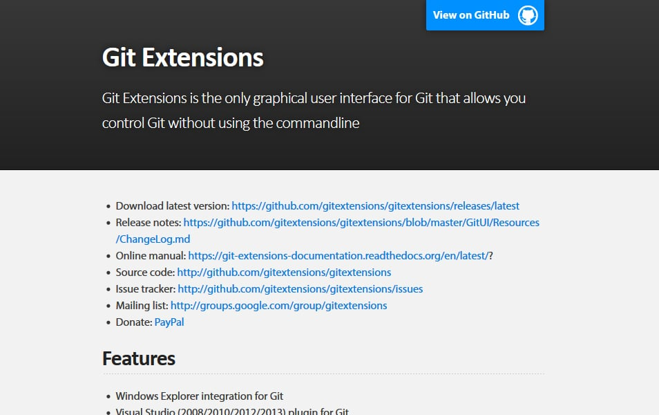 Git Extensions