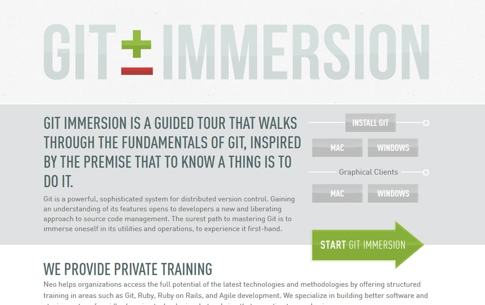 Git Immersion