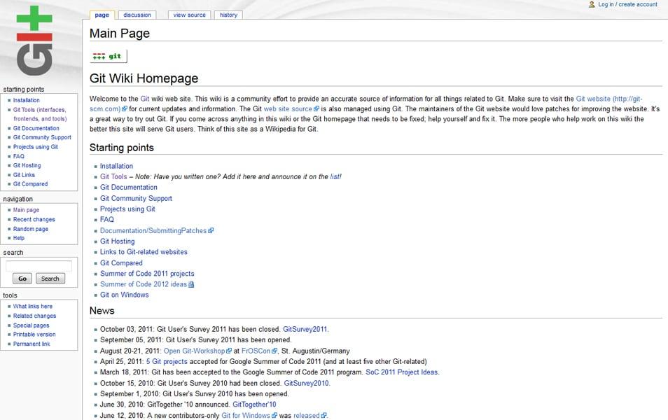Git Wiki Homepage