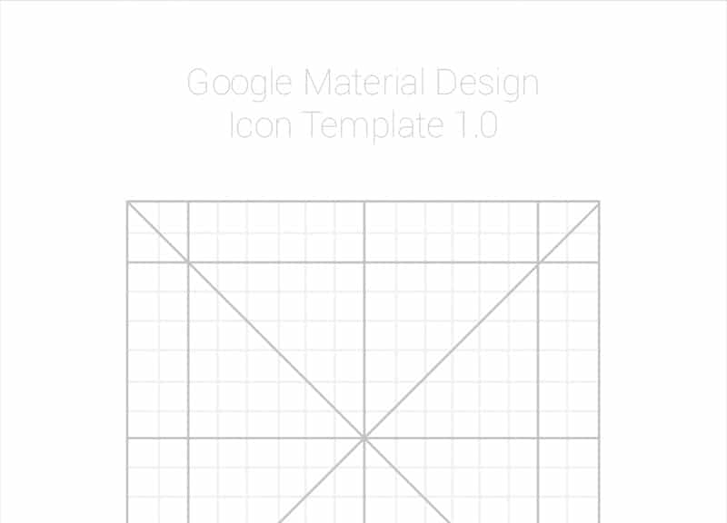 Google Design Icon Template PSD
