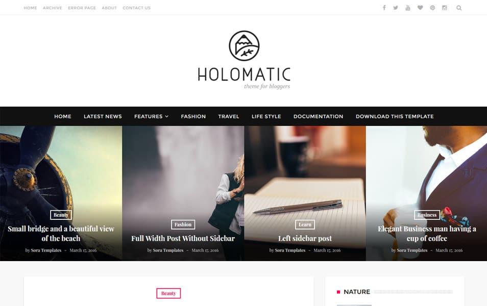 Holomatic Responsive Blogger Template